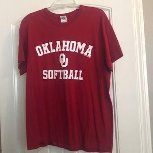 on sale 45a79 2919b Oklahoma Sooners Softball T-shirt Large